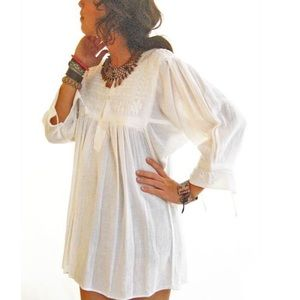 Bohemian Chic Blouse Mexican Embroidered